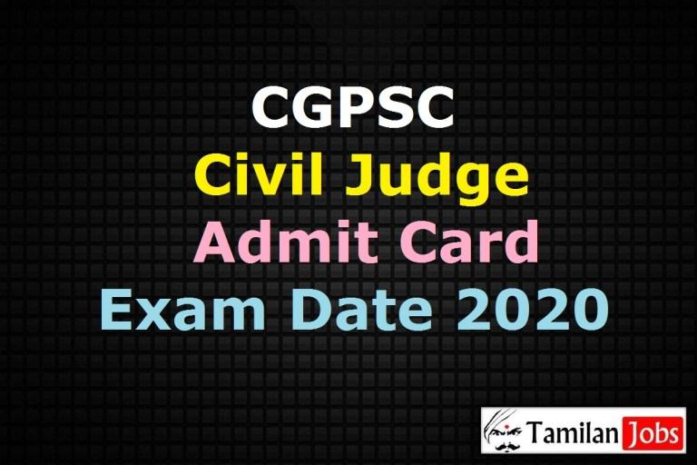 CGPSC Civil Judge Admit Card 2020 (OUT), Chhattisgarh Civil Judge Exam Date @ psc.cg.gov.in