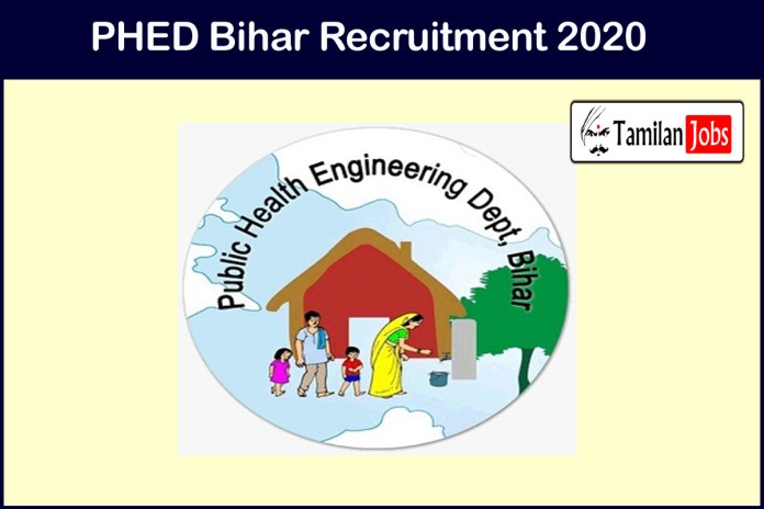 PHED Bihar Recruitment 2020 Out – Apply Online 288 JE Jobs