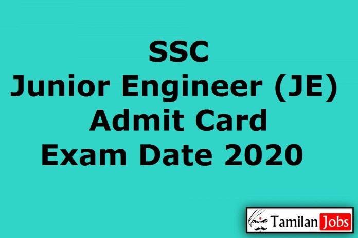SSC JE Admit Card 2020 | Junior Engineer Paper 1 New Exam Date (Out) @ ssc.nic.in