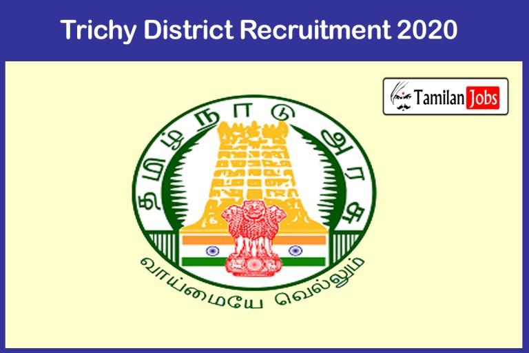Tiruchirappalli District Recruitment 2020 Out – Apply Registry Clerk Jobs