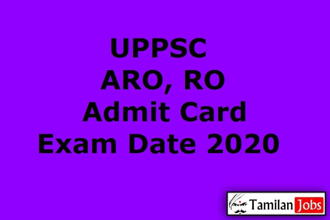 UPPSC ARO Admit Card 2020