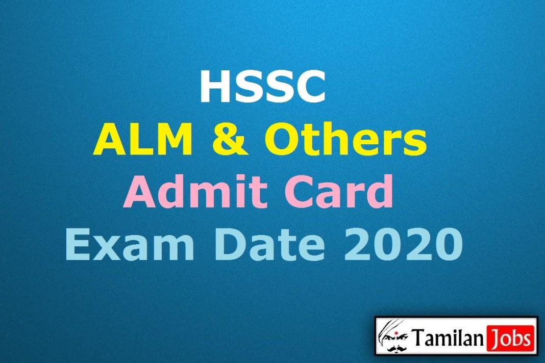 HSSC Assistant Lineman Admit Card 2020