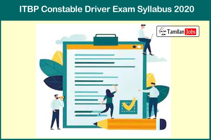 ITBP Constable Driver Syllabus 2020| Download @ itbpolice.nic.in