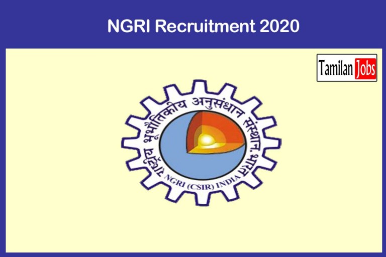 NGRI Recruitment 2020 Out – Apply 20 Technical Assitant Jobs
