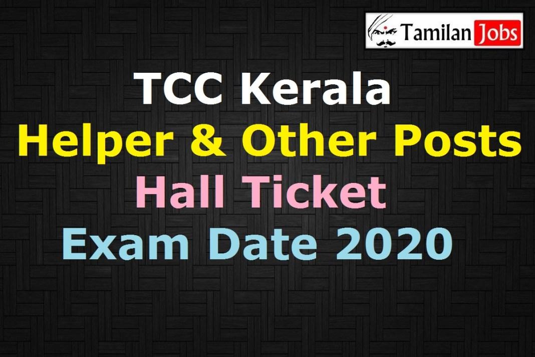 TCC Kerala Helper Hall Ticket 2020