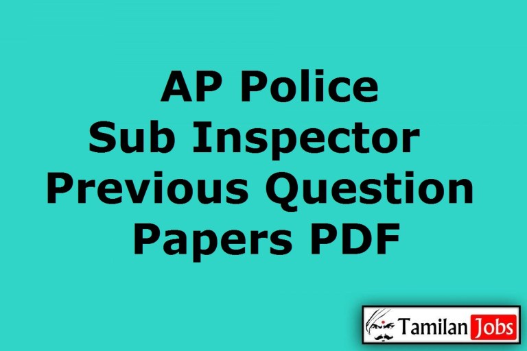 AP Police SI Previous Question Papers PDF, Prelims, Mains Model Papers @ slprb.ap.gov.in