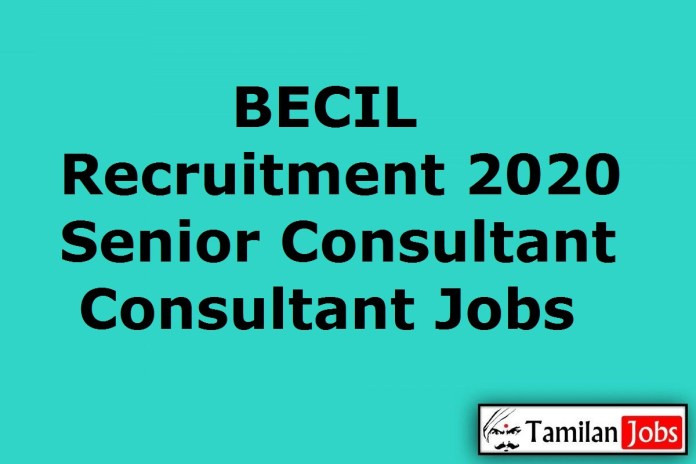 BECIL Recruitment 2020 Out – Apply Online 7 Senior Consultant/Consultant Jobs
