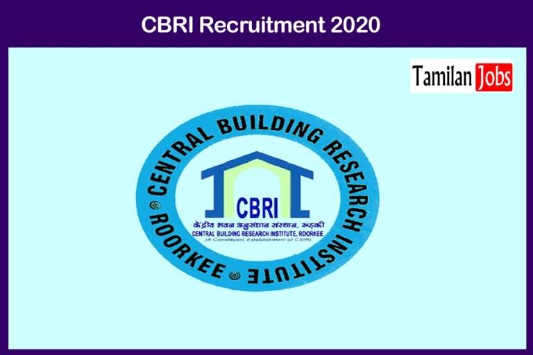 CBRI Recruitment 2020 Out – Apply 107 JRF Jobs