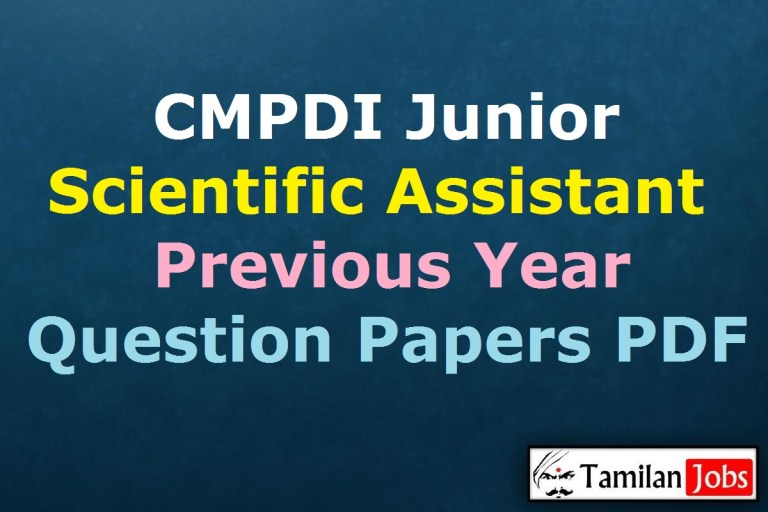 CMPDI Junior Scientific Assistant Previous Year Question Papers PDF, Assistant Driller Old Papers