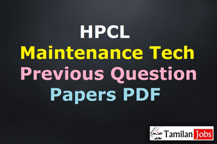 HPCL Maintenance Technician Previous Question Papers PDF, Junior Fire & Safety Inspector Old Papers