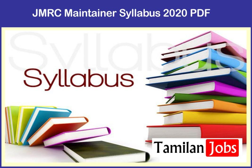 JMRC Maintainer Syllabus 2020 PDF