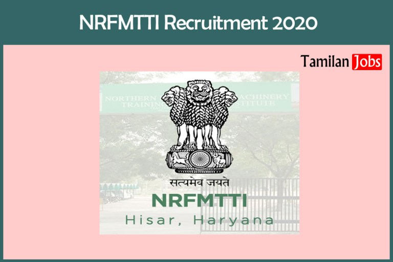 NRFMTTI Recruitment 2020 Out – Apply Online MTS Jobs