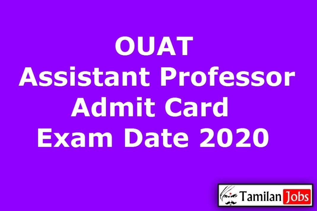 OUAT Assistant Professor Admit Card 2020