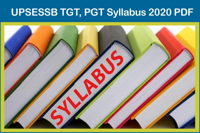 UPSESSB TGT, PGT Syllabus 2020 PDF, Exam Pattern @ pariksha.up.nic.in
