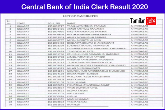 Central Bank of India Clerk Result 2020 Declared | Check Selection List, DV Date Here