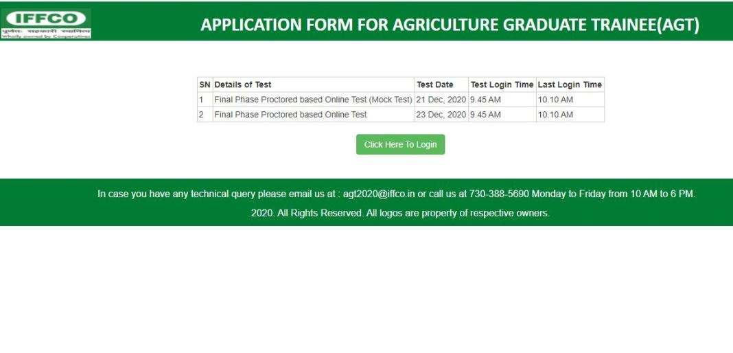 IFFCO AGT, GEA Result 2020