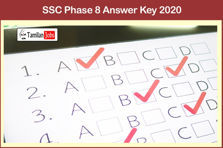 SSC Selection Post Phase 8 Answer Key 2020 PDF   Download @ ssc.nic.in