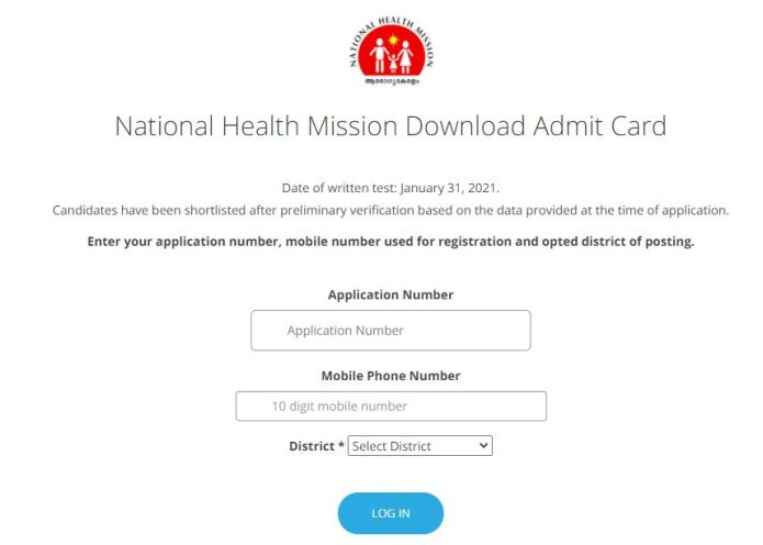 CMD NHM Kerala Staff Nurse Admit Card 2021 (OUT) @ cmdkerala.net, Mid Level Service Provider Call Letter