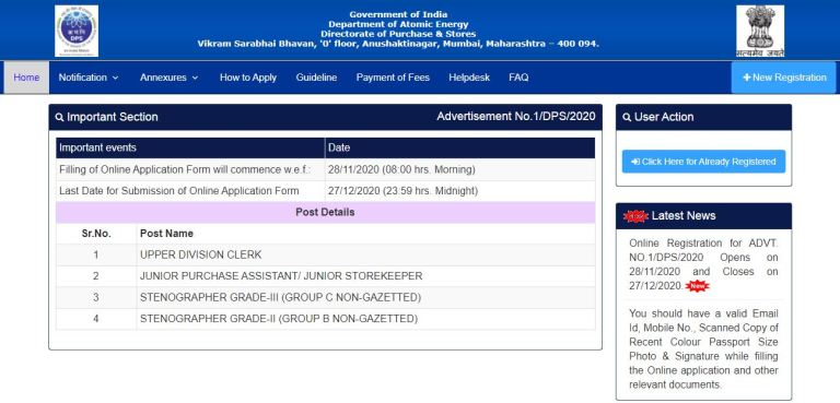 DAE DPS Admit Card 2021 @ dpsdae.gov.in, Group B, C Exam Date
