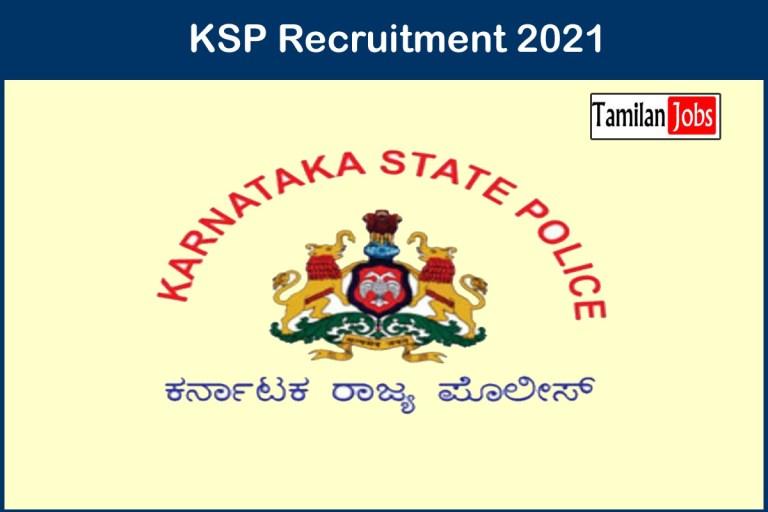 KSP Karnataka Recruitment 2021 Out – Apply Online 4000 Constable Jobs