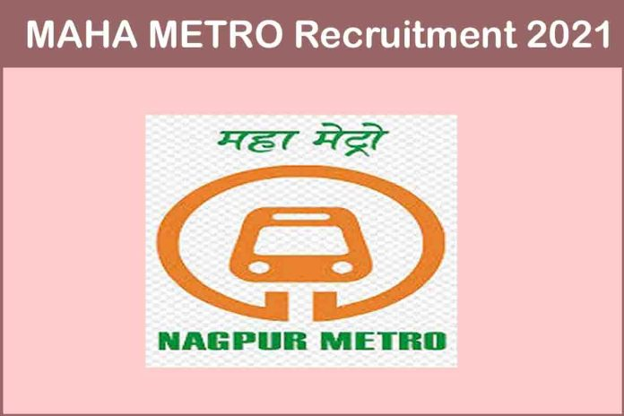 MAHA METRO Recruitment 2021 Out – Apply Online For 96 JE, Manager Jobs