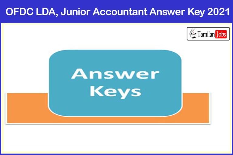 OFDC LDA, Junior Accountant Answer Key 2021 Yet To Release Soon @ odishafdc.com