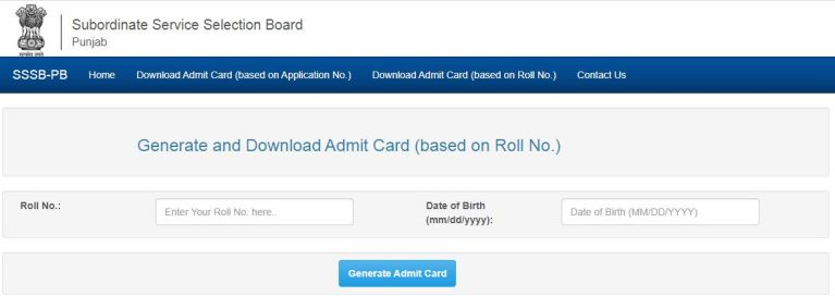 PSSSB Assistant Superintendent Admit Card 2021 (OUT), Exam Date @ sssb.punjab.gov.in