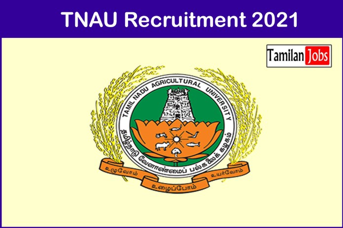 TNAU Recruitment 2021 Out – Apply Teaching Assistant Jobs