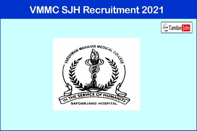 VMMC SJH Recruitment 2021 Out – Apply Online 542 Senior Resident Jobs