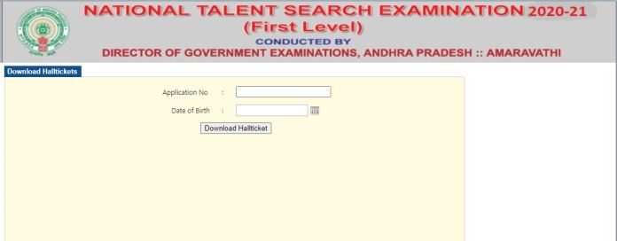 AP NTSE Hall Ticket 2021 (Out), Andhra Pradesh National Talent Search Examination Date