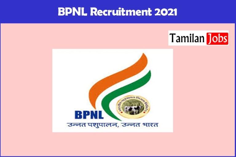 BPNL Recruitment 2021 – Apply Online Animal Health Worker Jobs
