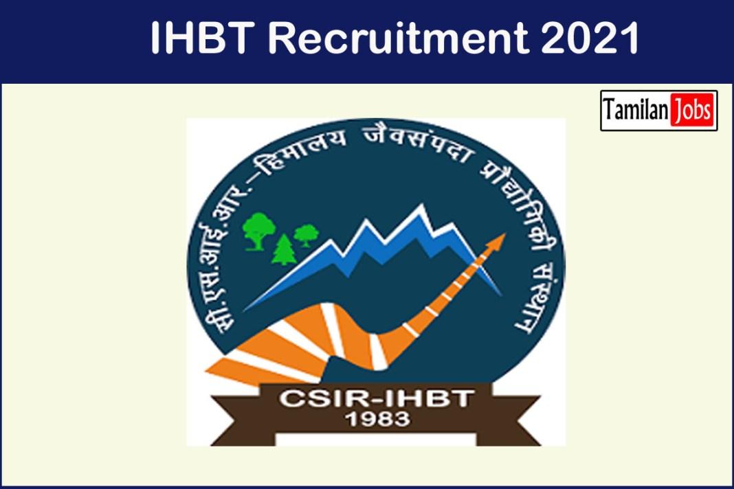 IHBT Recruitment 2021
