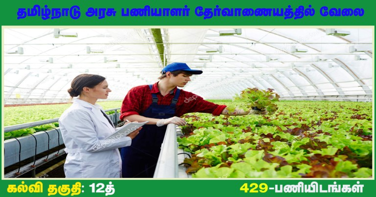 TNPSC Recruitment 2021 Out – Apply 429 Horticultural Officer, Assistant Agricultural Officer Jobs
