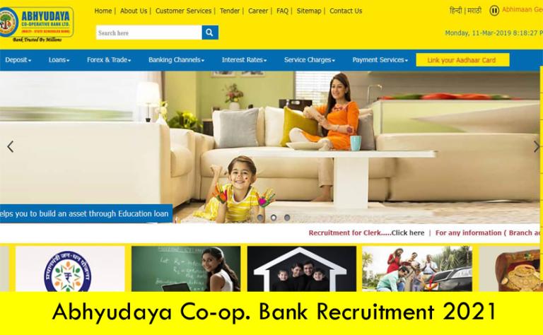 Abhyudaya Co-op. Bank Recruitment 2021 – Apply Online Fresher job Openings