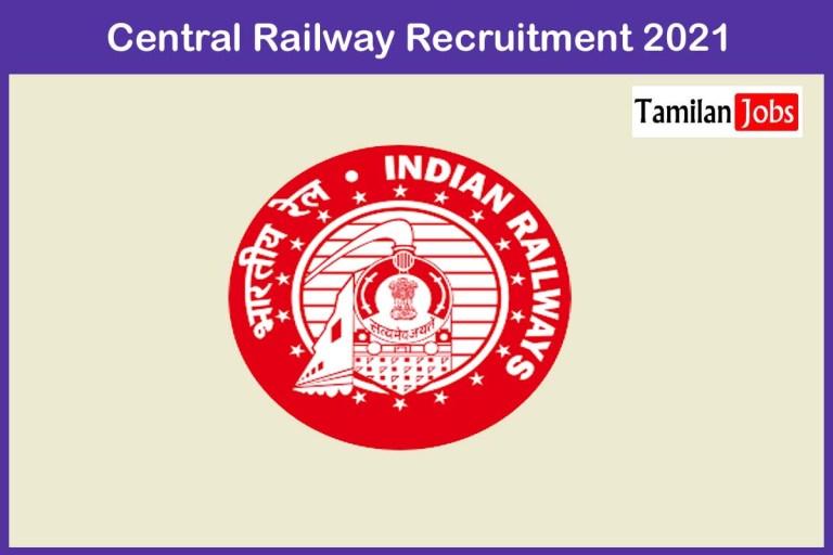 Central Railway Recruitment 2021 Out – Apply 52 Staff Nurse Jobs