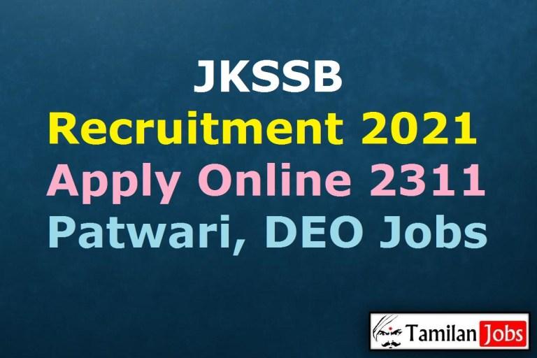 JKSSB Recruitment 2021 Out – Apply 2311 Junior Nurse Jobs