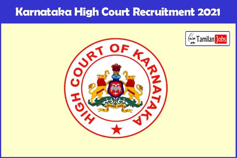 Karnataka High Court Recruitment 2021 Out – Apply Online 94 Civil Judge Jobs