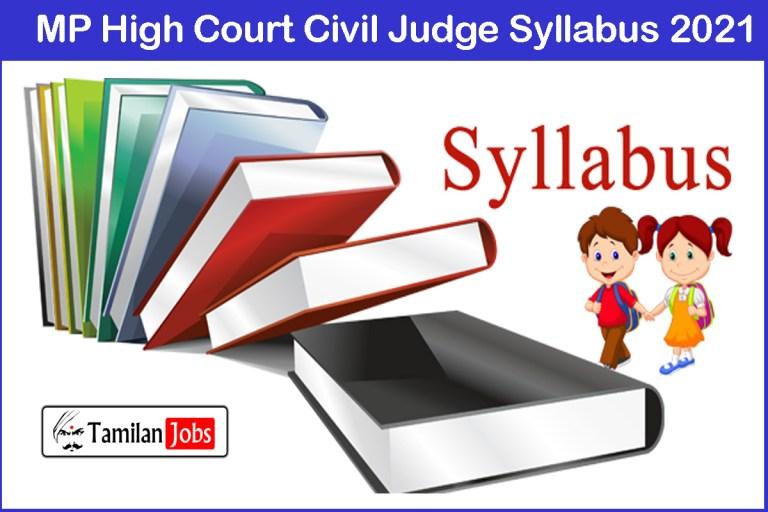 MP High Court Civil Judge Syllabus 2021, Exam Pattern @ mphc.gov.in