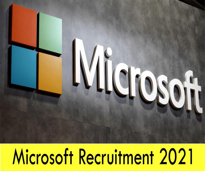 Microsoft Recruitment 2021: Apply Online Job Openings