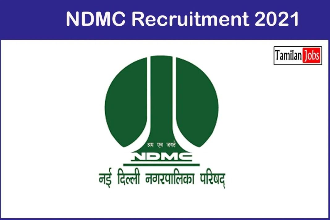 NDMC Recruitment 2021