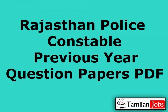 Rajasthan Police Constable Previous Question Papers PDF
