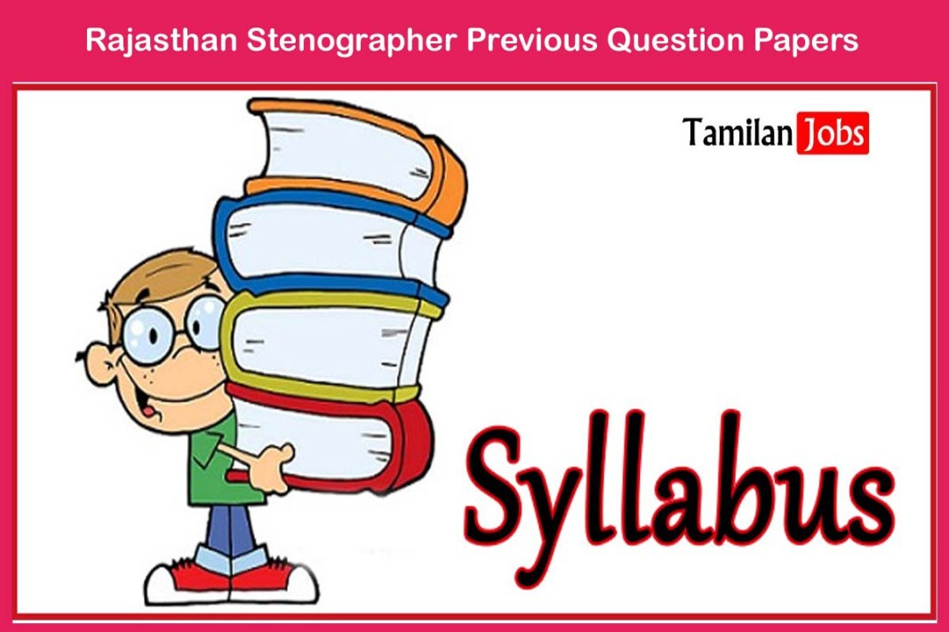 Rajasthan Stenographer Previous Question Papers