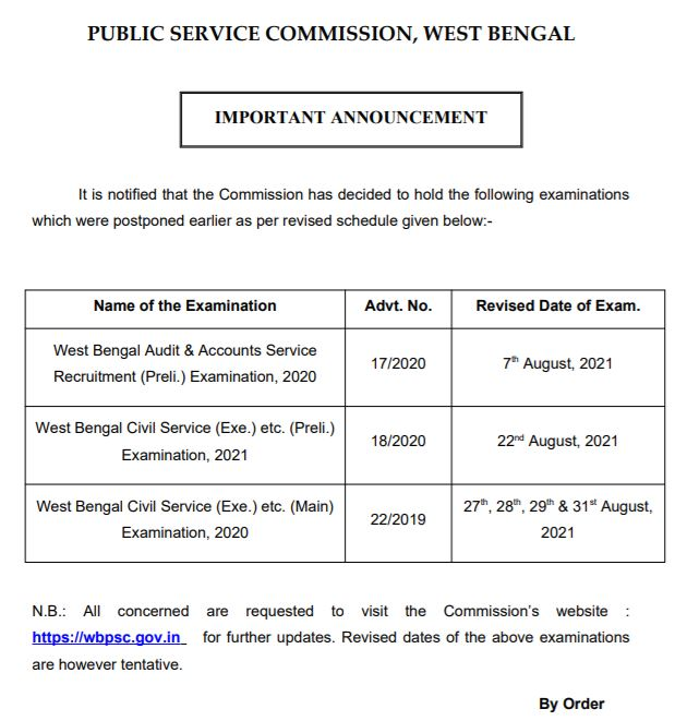 WBPSC Civil Service Mains Admit Card 2021 Available Soon, Exam Date {Out} @ wbpsc.gov.in