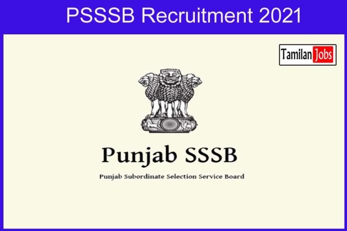 PSSSB Recruitment 2021 Out – Apply Online 112 Supervisor Jobs