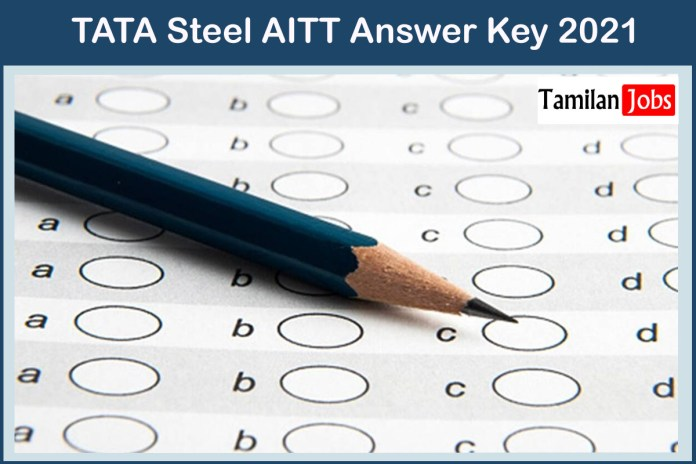 TATA Steel AITT Answer Key 2021 | Check @ www.tatasteel.com