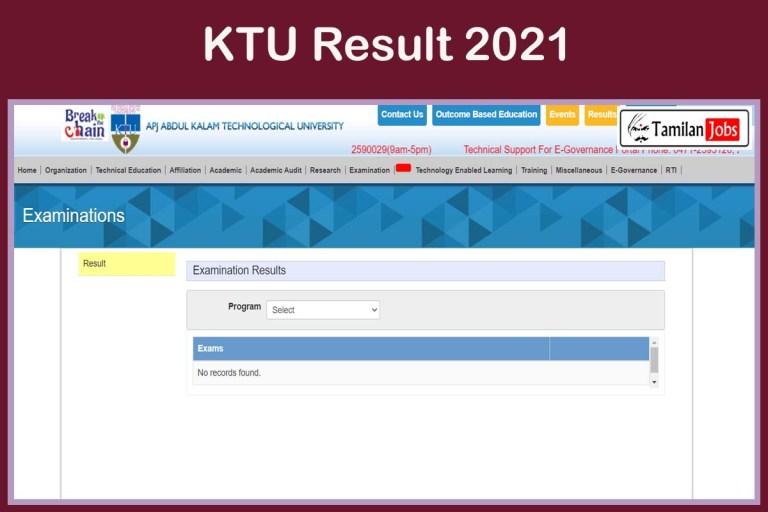 KTU Result 2021 (OUT) @ ktu.edu.in   Download UG PG Exam Results here!!!