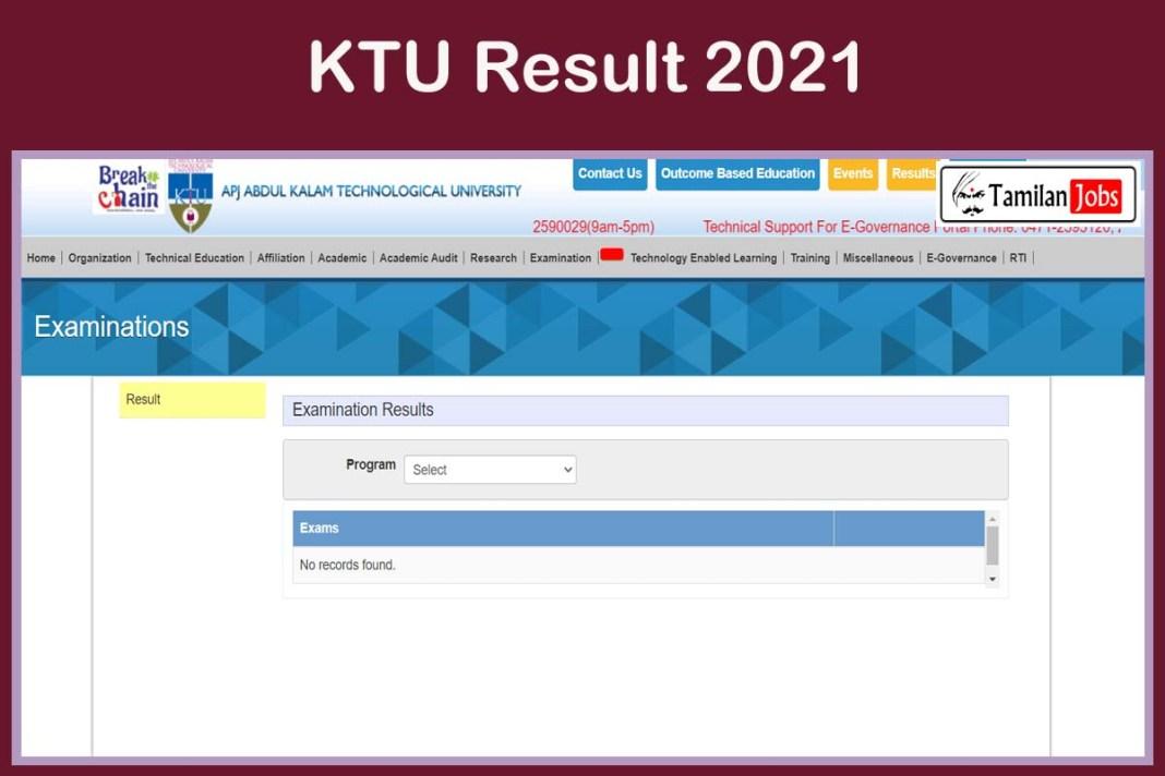 KTU Result 2021