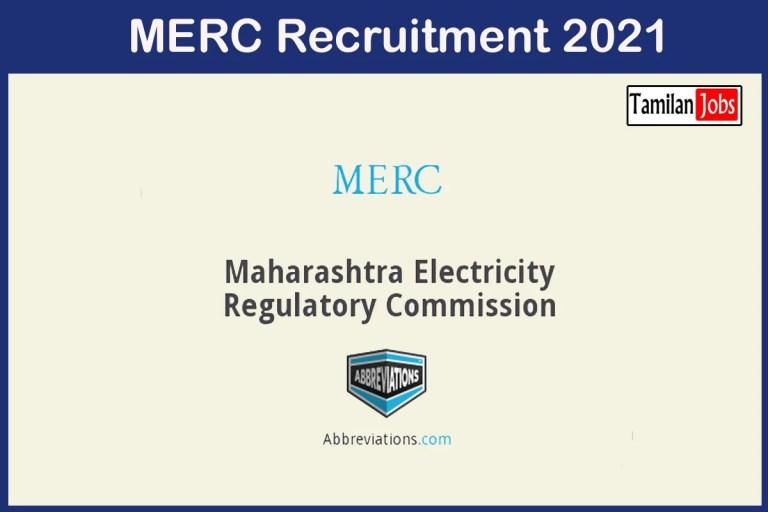 MERC Recruitment 2021 Out – Apply Offline 7 Engineer, Developer Jobs