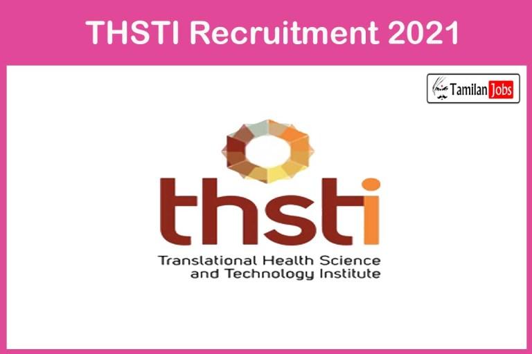 THSTI Recruitment 2021 Out – Apply Online 16 Research Associate Jobs