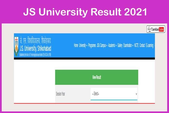 JS University Result 2021 Released @ jsu.edu.in